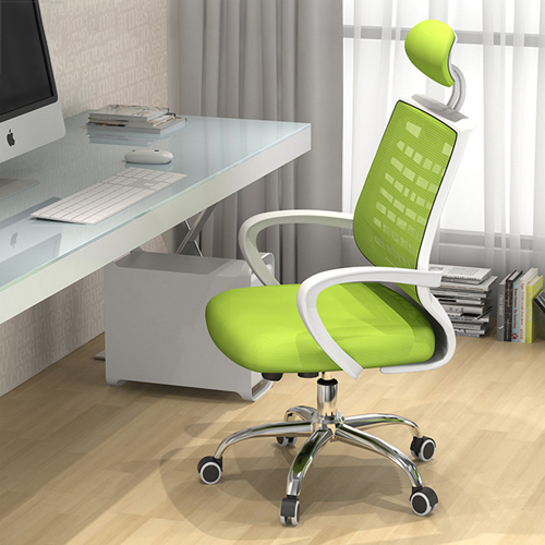 High-End Ergonomic Mesh Chair with Steel Base Image 1
