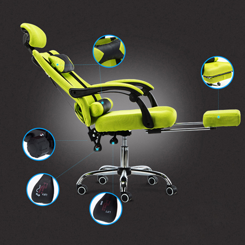 Tilt Modern Ergonomic Mesh Chair With Footrest Image 14