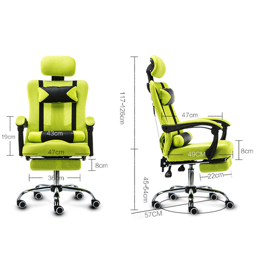 Tilt Modern Ergonomic Mesh Chair With Footrest Image 22