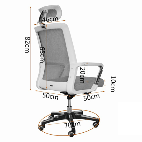 Naxolide Mesh Executive Chair With Headrest Image 11