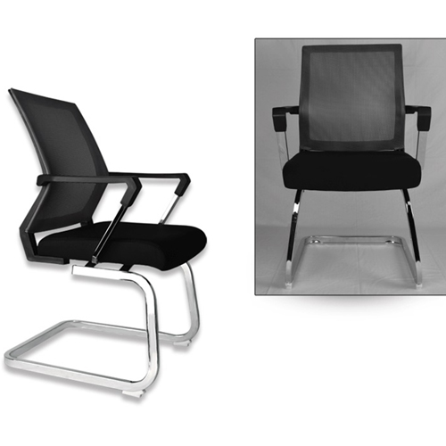 Square Frame Cantilever Mesh Chair Image 9