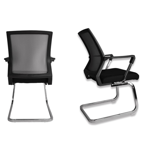 Square Frame Cantilever Mesh Chair Image 10