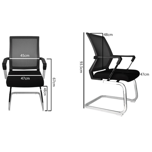 Square Frame Cantilever Mesh Chair Image 12