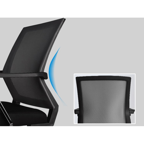 Square Frame Cantilever Mesh Chair Image 14