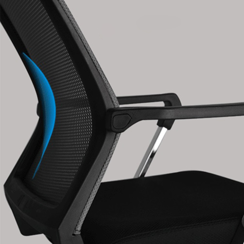 Square Frame Cantilever Mesh Chair Image 15