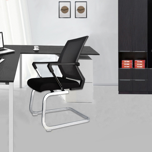 Square Frame Cantilever Mesh Chair Image 1