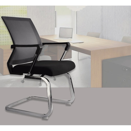 Square Frame Cantilever Mesh Chair Image 3