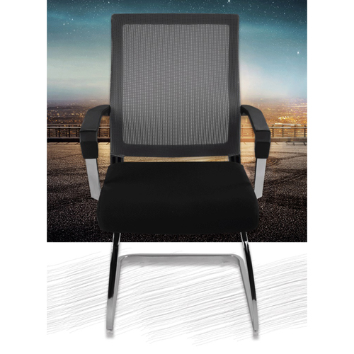 Square Frame Cantilever Mesh Chair Image 4