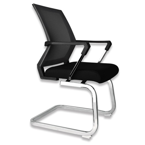 Square Frame Cantilever Mesh Chair