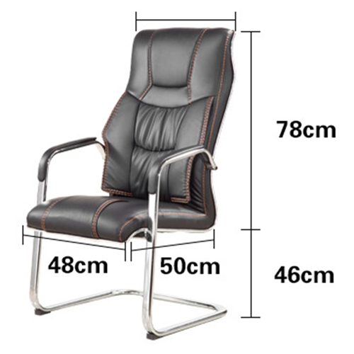 Bonded Leather Cantilever Office Chair Image 10