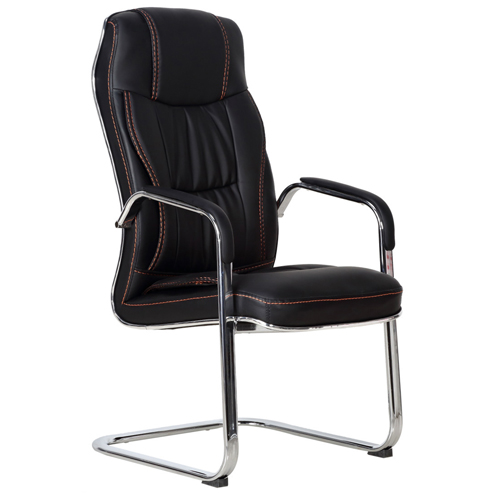 Bonded Leather Cantilever Office Chair Image 2