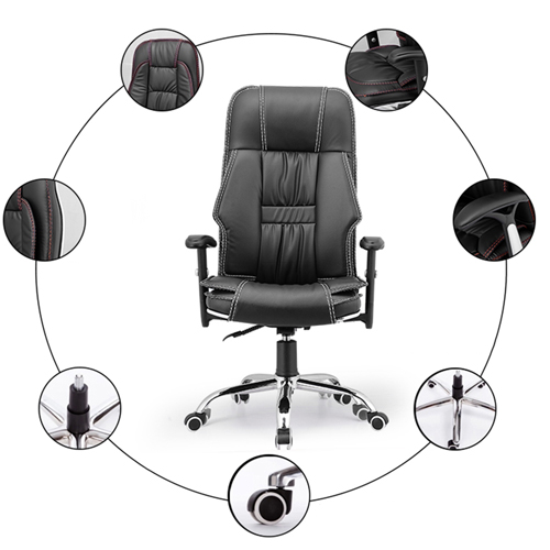 Standard Actuated Leather Executive Chair Image 4