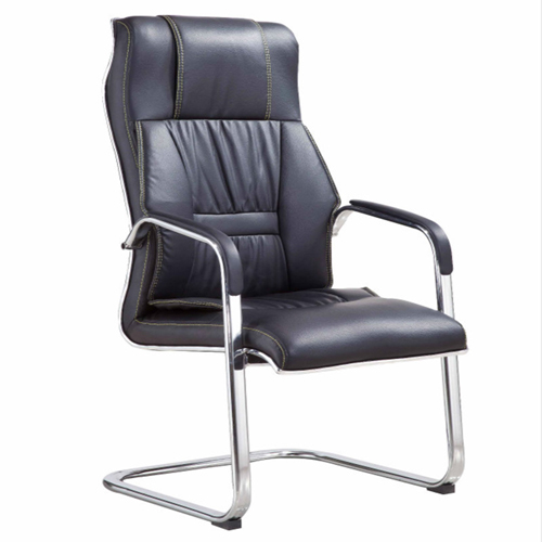 Cantilever Sled Leather Mid Back Chair