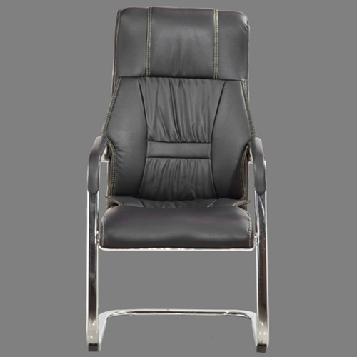 Cantilever Sled Leather Mid Back Chair Image 1