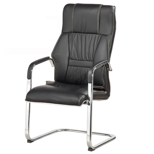 Cantilever Sled Leather Mid Back Chair Image 2