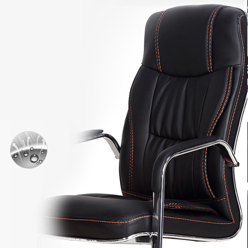 Cantilever Sled Leather Office Chair Image 10