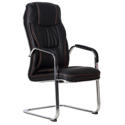 Cantilever Sled Leather Office Chair