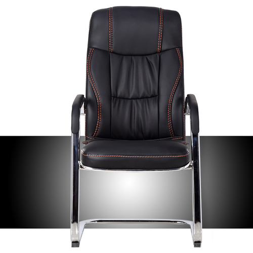 Cantilever Sled Leather Office Chair Image 2