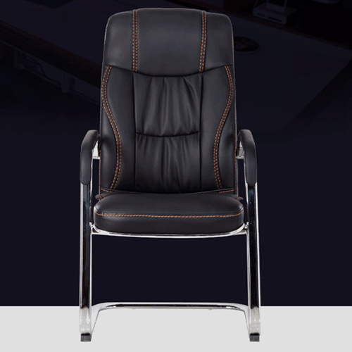 Cantilever Sled Leather Office Chair Image 6
