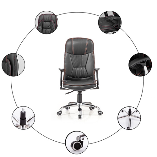 Deluxe Leather Boss Office Chair Image 12