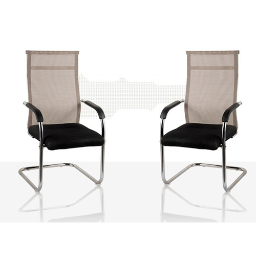 Modern Cantilever Mesh Chair Image 1