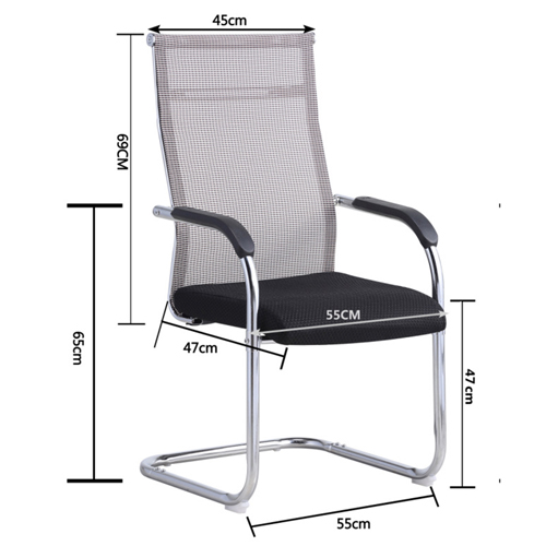 Modern Cantilever Mesh Chair Image 8