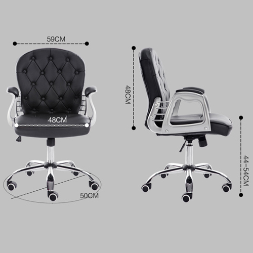 Modern Low Backrest Leisure Chair With Tilt Function Image 15
