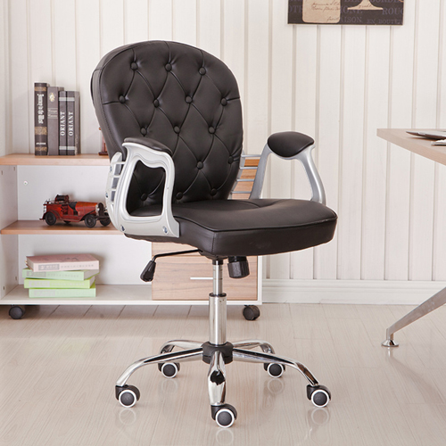 Modern Low Backrest Leisure Chair With Tilt Function Image 1