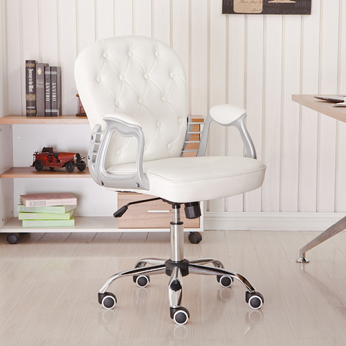 Modern Low Backrest Leisure Chair With Tilt Function Image 2