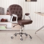 Modern Low Backrest Leisure Chair With Tilt Function Image 3