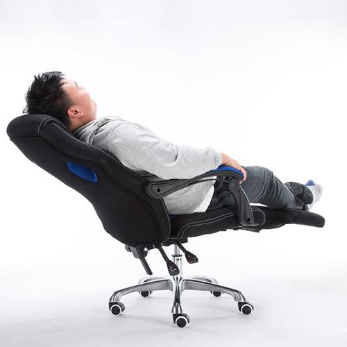 Racing Style Reclining Chair with Lumbar Cushion Image 3