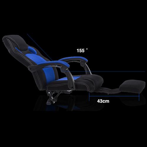 Racing Style Reclining Chair with Lumbar Cushion Image 8