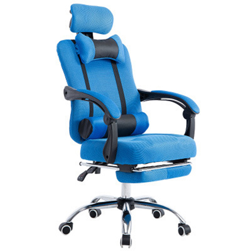Breathable High-Back Armchair With Footrest Image 9