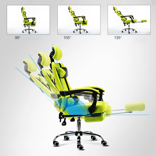 Breathable High-Back Armchair With Footrest Image 11