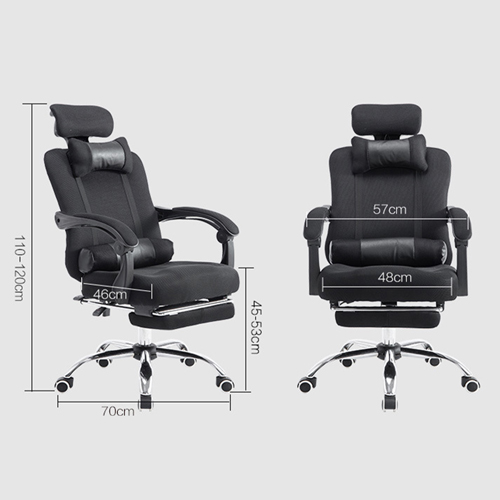 Breathable High-Back Armchair With Footrest Image 13