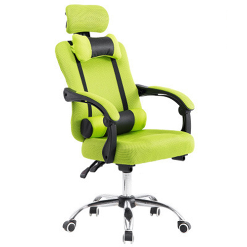 Breathable High-Back Armchair With Footrest Image 2