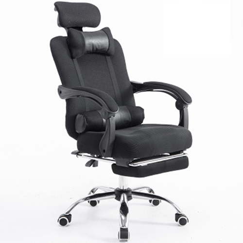 Breathable High-Back Armchair With Footrest Image 7