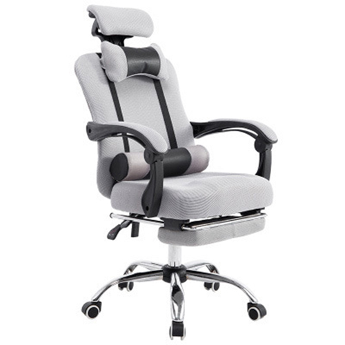Breathable High-Back Armchair With Footrest Image 8