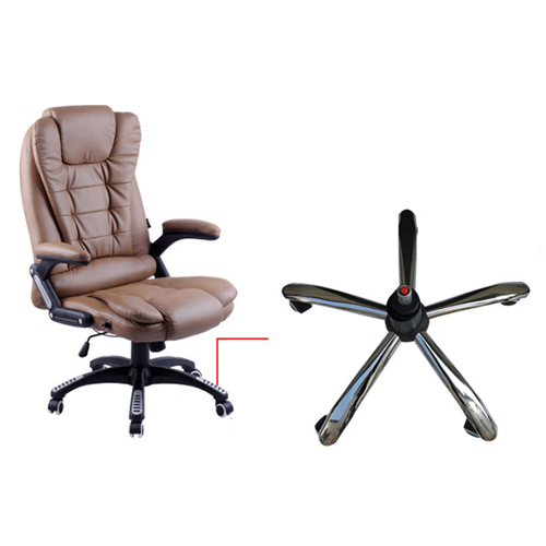 Reclining High Back Office Chair With Adjustable Arms Image 9