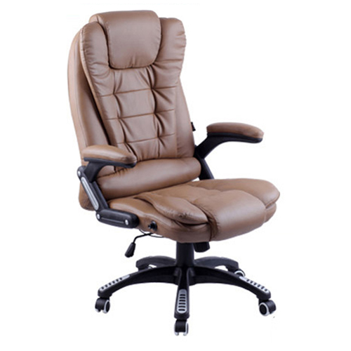 Reclining High Back Office Chair With Adjustable Arms Image 2