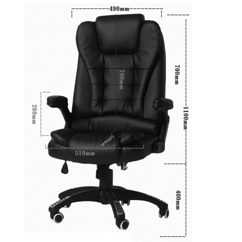 Reclining High Back Office Chair With Adjustable Arms Image 4