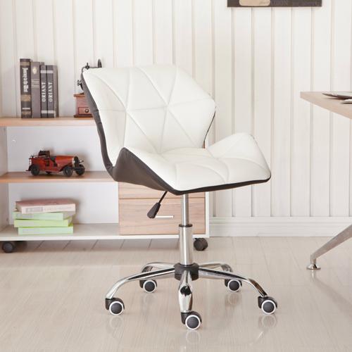Cushioned Chrome Legs Lift Swivel Chair Image 2