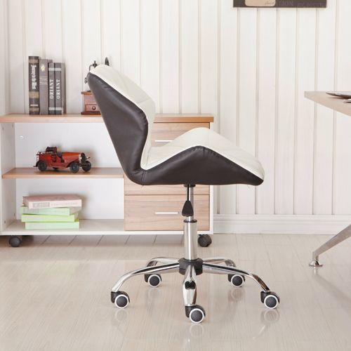 Cushioned Chrome Legs Lift Swivel Chair Image 3