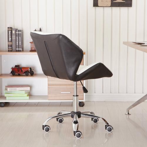 Cushioned Chrome Legs Lift Swivel Chair Image 4
