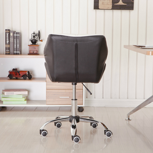 Cushioned Chrome Legs Lift Swivel Chair Image 5