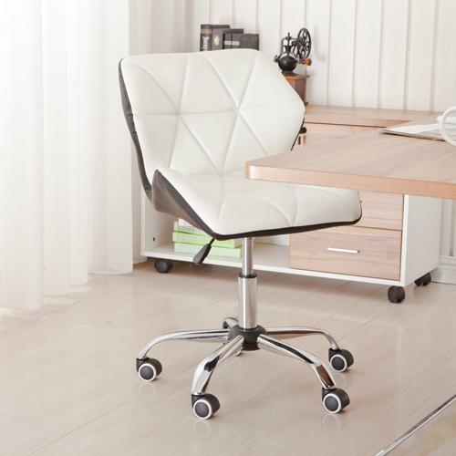 Cushioned Chrome Legs Lift Swivel Chair Image 6