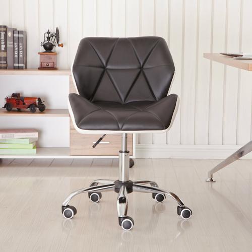 Cushioned Chrome Legs Lift Swivel Chair Image 7