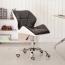 Cushioned Chrome Legs Lift Swivel Chair