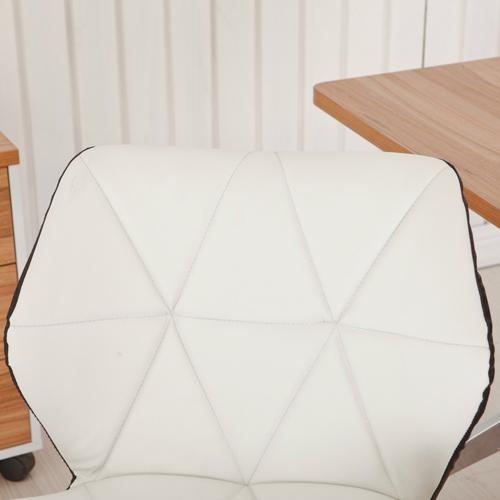 Cushioned Chrome Legs Lift Swivel Chair Image 8