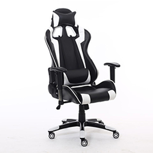 Executive Leather Racer Gaming With Lumbar Pillow Image 14